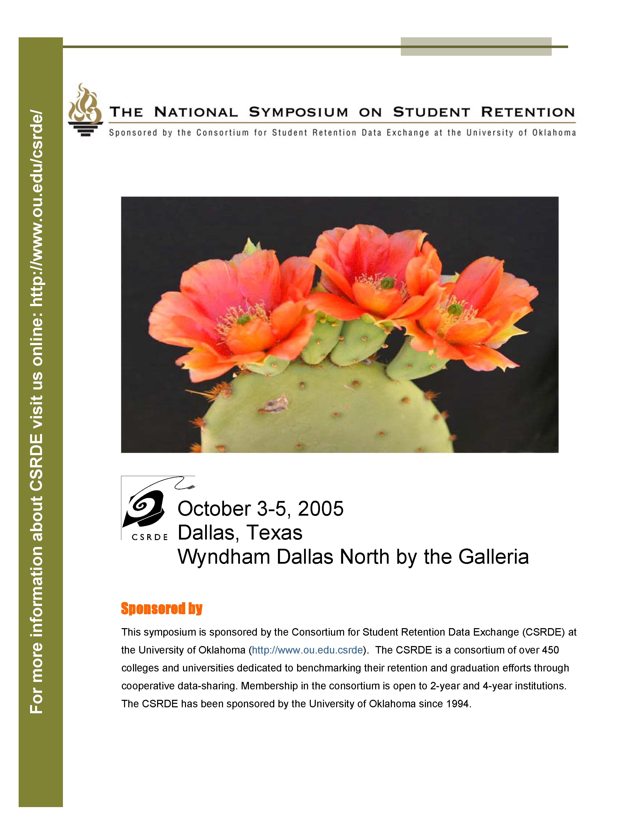 2005 NSSR Program Cover