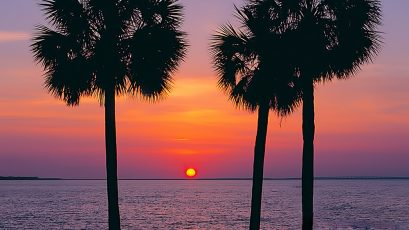 Sunset at the Sandestin resort hotel