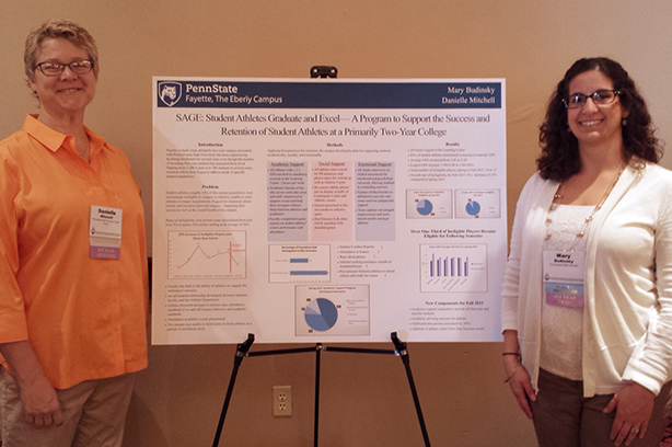 Danielle Mitchell and Mary Budinsky with their award winning poster